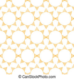 Abstract textile golden suns geometric seamless pattern background