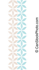 Abstract textile leaves stripes vertical seamless pattern background