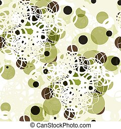Abstract textile seamless pattern of colorful green dots