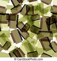 Abstract textile seamless pattern of colorful green squares