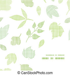Abstract textile texture frame corner pattern background