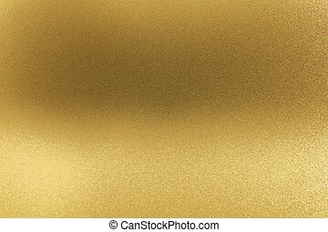 Abstract texture background, glowing golden metal wall