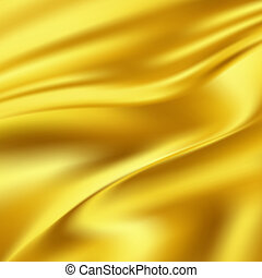 Abstract Texture, Gold Silk - Gold Silk Fabric for Drapery...