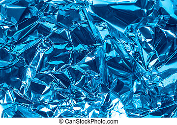 Abstract texture of Blue shiny Foil