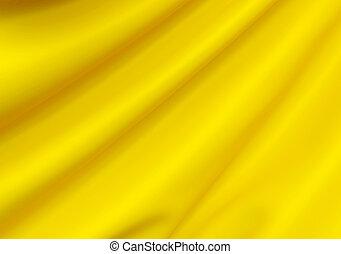Abstract Texture. Yellow Silk