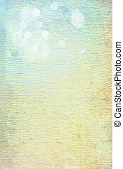 Abstract textured background: blue and brown patterns on yellow backdrop