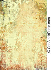 Abstract textured background: brown and red patterns on yellow backdrop