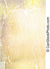 Abstract textured background: brown and white patterns on yellow backdrop