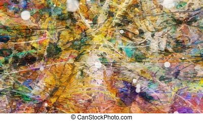 Colorful messy abstract textured background