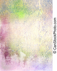 Abstract textured background: green, blue, and red patterns
