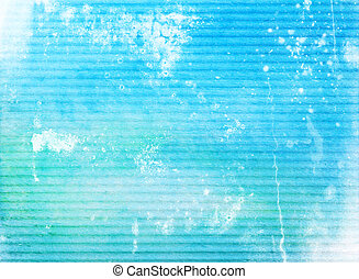 Abstract textured background: white patterns on blue sky-like backdrop