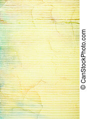 Abstract textured background with blue, green, and brown patterns on yellow backdrop