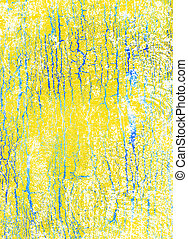 Abstract textured background: yellow and blue patterns on white summer-themed backdrop