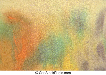 Abstract textured background: yellow, blue, and red patterns