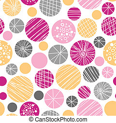 Abstract textured bubbles seamless pattern background