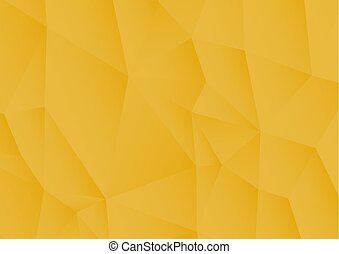 Abstract textured polygonal background. Yellow Lowpoly...