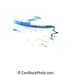 abstract The blue drawing stroke ink watercolor brush water colo