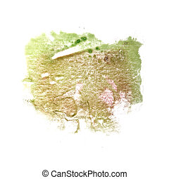 abstract The green drawing stroke ink watercolor brush water