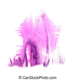 abstract The lilac drawing stroke ink watercolor brush water...