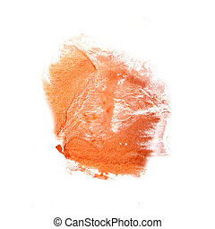 abstract The orange drawing stroke ink watercolor brush water co
