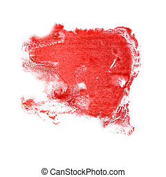 abstract The red drawing stroke ink watercolor brush water