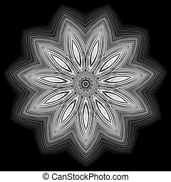 Abstract the white star on black background