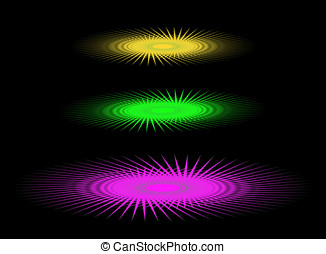 Abstract three colored UFO