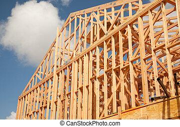 abstract, thuis gebouw, bouwterrein