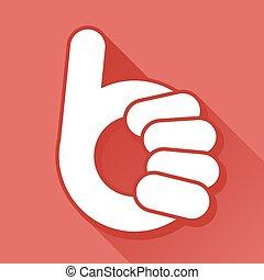 Abstract thumb up- like symbol