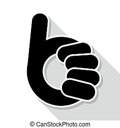 Abstract thumb up- like symbol