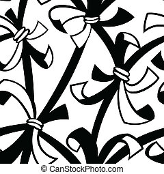 abstract tied ribbon seamless isolated background