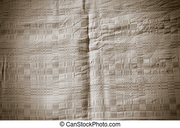 Abstract Tiled Fabric Sepia Background