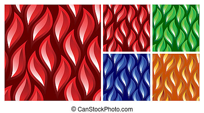 Abstract tiled pattern for stained glass