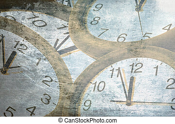 abstract time concept . old clock