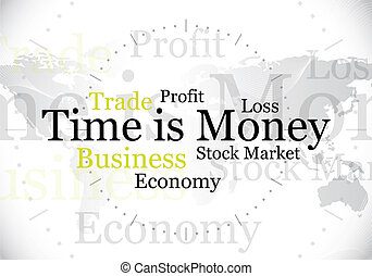 "time is money - abstract ""time is money"" design / background"