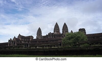 Abstract Timelapse Clip of Angkor Wat with Slow Zoom -...