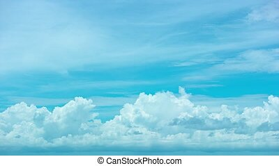 Abstract, Timelapse Shot of Clouds Building in the Sky - ...