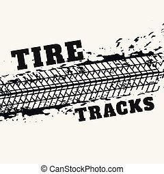 abstract tire tracks print marks in grunge style