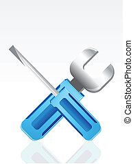 abstract tools icon vector