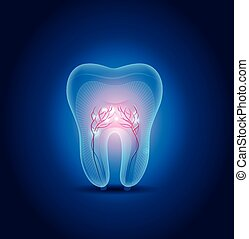 Abstract tooth illustration, beautiful bright design