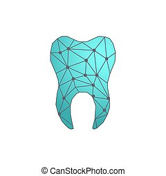 Abstract tooth logo.