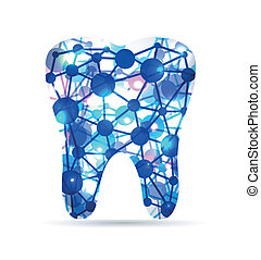 Tooth of molecules - Abstract Tooth of molecules, scientific...