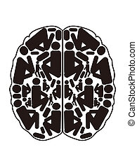 abstract top view of human brain