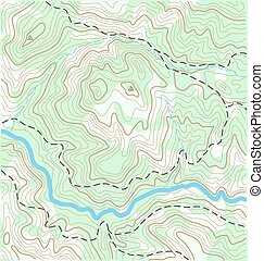 Topographic Map - Abstract Topographic Map Vector Background