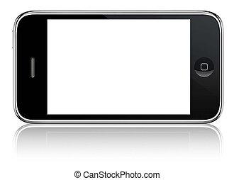 Abstract touchscreen smartphone , 3d render