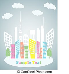 Abstract Town Background