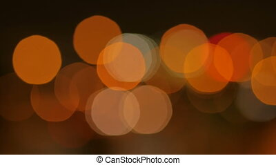 Abstract traffic light bokeh background. Evening time,...