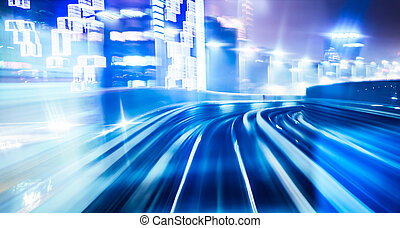 Abstract train moving