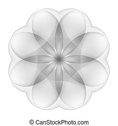 Abstract transparent flower