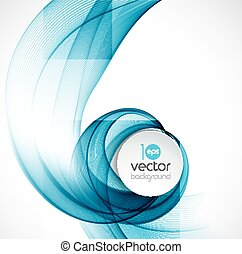 Abstract transparent fractal wave template background...